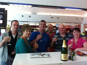 Champagne Breakfast before diving holiday